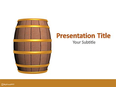 Free Barrel Powerpoint Template Download Free Powerpoint Ppt Wooden Barrel Template