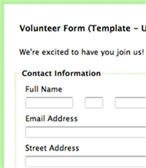 volunteer email template formassembly forms