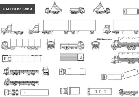 diagrams trucks autocad blocks free cad drawings