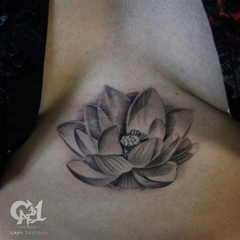 lotus tattoo sternum lotus flower sternum tattoo by capone tattoonow