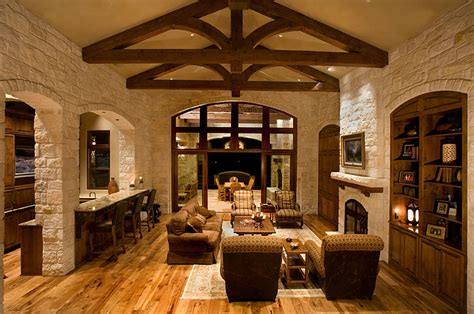 interior decorations rustic interior cottage design unique hardscape design