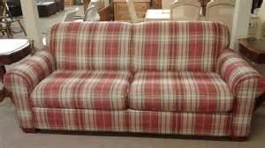 plaid sofa lazyboy plaid sofa delmarva furniture consignment