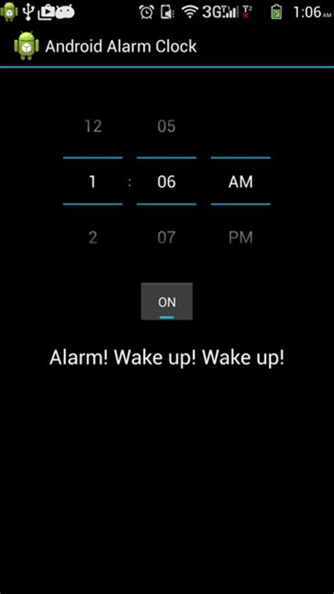 android clock android alarm clock tutorial java tutorial
