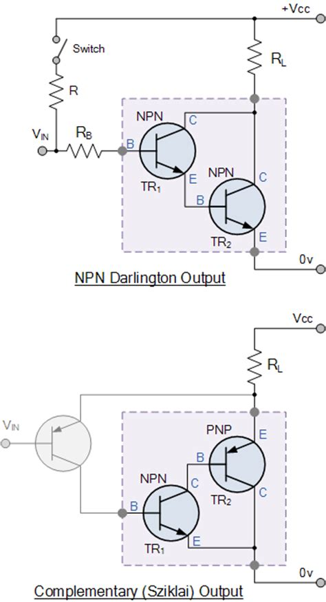 darlington transistor configuration darlington transistor configurations bjt transistor tutorial
