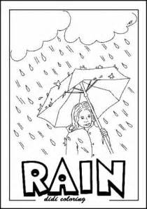 weather coloring pages printable rainy weather coloring page standing with