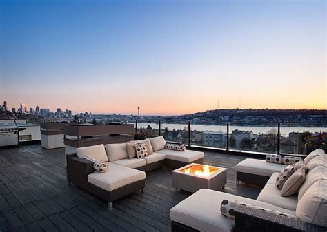 rooftop pit contemporary deck with pit rooftop deck in seattle