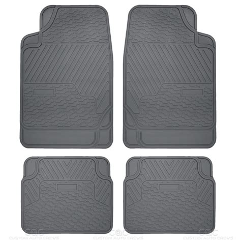 Mud Floor Mats by Car Floor Mat Heavy Duty All Weather Rubber Trap Snow