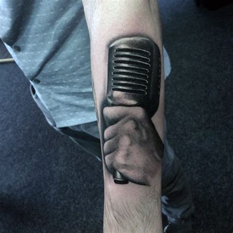microphone tattoo on hand 100 black and grey tattoos for men grandeur of gradients