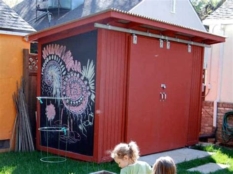turn  shed   creative space  chalkboard paint