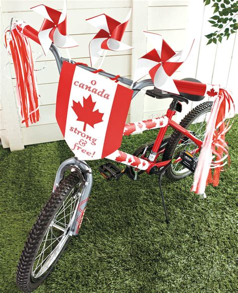 Decorate Your Bike by Bicycle Makeover Decorate Your Bike For Canada Day