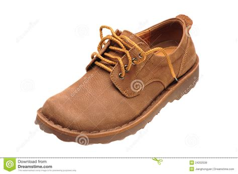 worn leather shoe royalty free stock images image 24202539