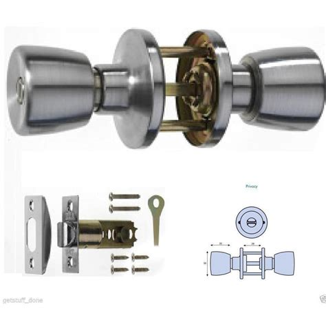 Bedroom Door Lock Padlock Era Mortice Door Knob Privacy Lock Set Brush Chrome With