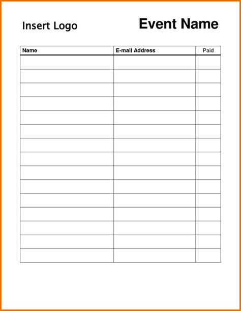 sign in sheet templates download free premium