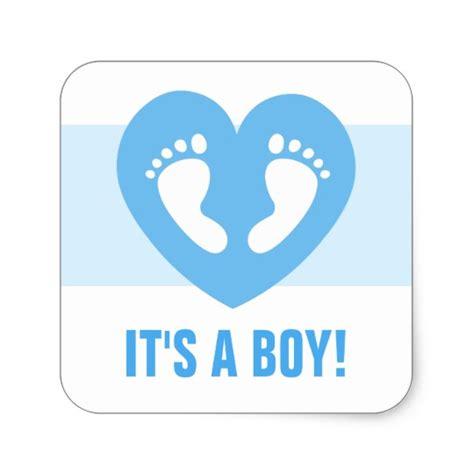Baby Boy Footprint its a boy baby footprints on blue stickers zazzle