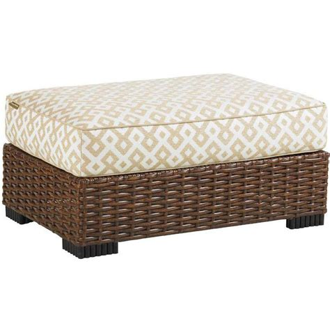 Wicker Ottoman Bahama Club Pacifica Wicker Patio Ottoman Ultimate Patio