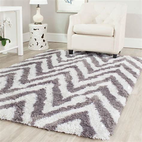 Ivory And Gray Area Rug Safavieh Dallas Shag Ivory Gray 6 Ft X 9 Ft Area Rug Sgd258f 6 The Home Depot
