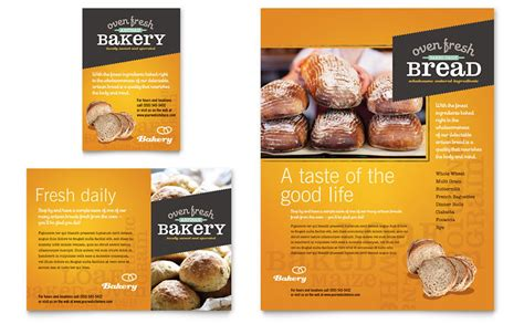 Artisan Bakery Flyer & Ad Template   Word & Publisher