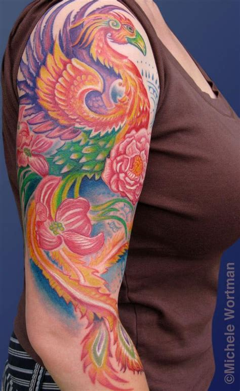 tattoo phoenix half sleeve tattoo education tattoos michele wortman nikki