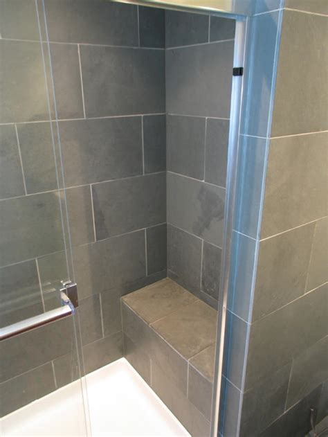 bath shower bench lockerbie loft master bath renovation wrightworks llc