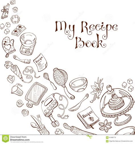 baking templates recipe book template stock vector image of background