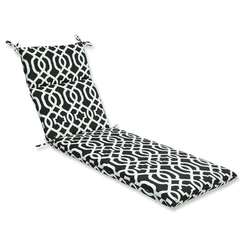 white chaise lounge cushion outdoor indoor new geo black white chaise lounge cushion