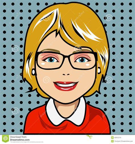 blonde female comic book characters blonde cartoon character stock vector image 42012710