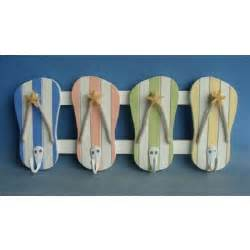 Flip Flop Home Decor Colorful Flip Flop Wall Hooks