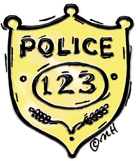 police badge in color clip art gallery