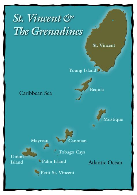 st vincent grenadines map maps of st vincent and the grenadines bill tewes
