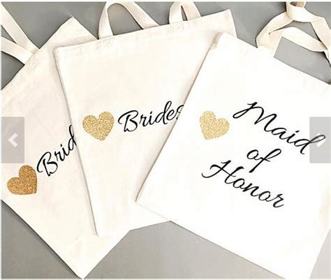 personalized tote bags for bridal shower glitter set of 4 bridesmaid tote bags personalized names