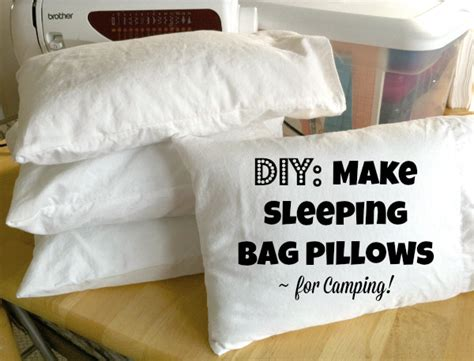 How To Make Baby Pillow Cases by Make Sleeping Bag Pillows For Cing Make And Takes