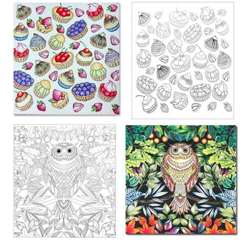 My Craft St7780 Colouring Book Enchanted Forest colouring book large anti stress therapy relaxing craft enchanted forest ebay