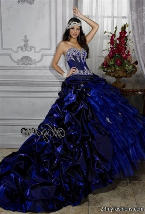 royal blue and black quinceanera dresses 2016 2017 b2b