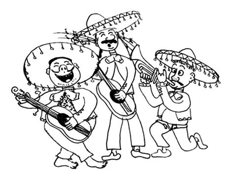 mariachi guitar coloring page free coloring pages of mariachi band