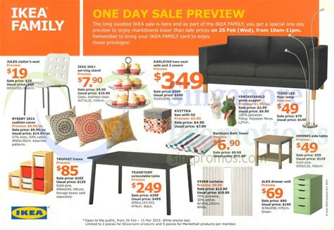 upcoming ikea sales ikea sale 26 feb 15 mar 2015