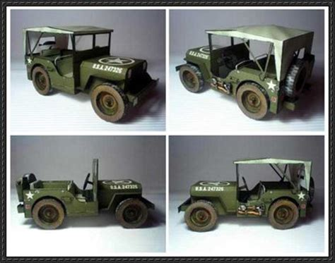 Papercraft Jeep - papercraftsquare new paper craft wwii 1944 willys