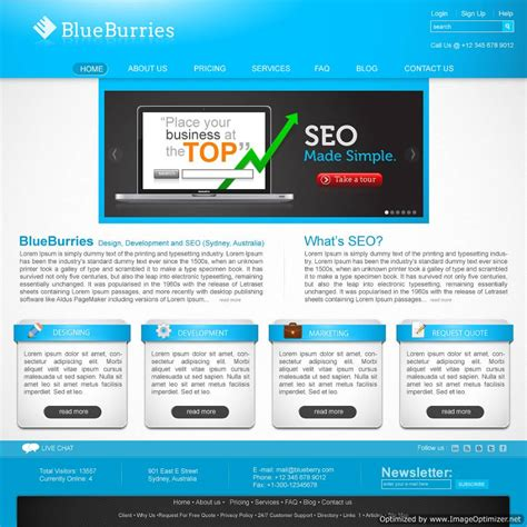 website homepage design and web design solutions by