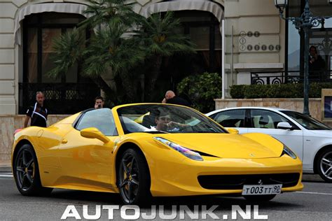 Ferrari 458 Spider Yellow by Yellow Ferrari 458 Spider Monaco Foto S 187 Autojunk Nl 97888