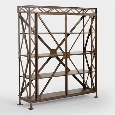 rustic metal bryson truss shelf world market