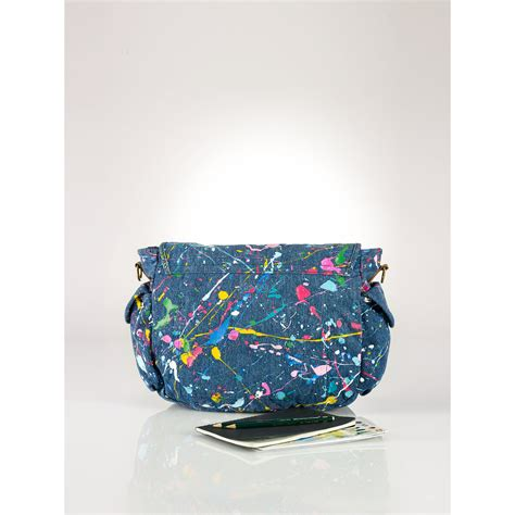 Pouch Kosmetik Polos Collorful polo ralph paint splatter messenger bag in blue lyst