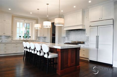 Large Kitchen Islands With Seating And Storage by Two Tone Kitchen Transitional Kitchen Sarah Gallop
