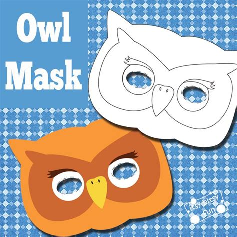 printable owl face mask owl mask and template to color owl mask free printable