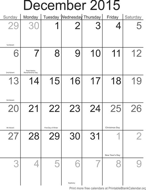 printable weekly calendar for december 2015 december 2015 calander printable blank calendar org