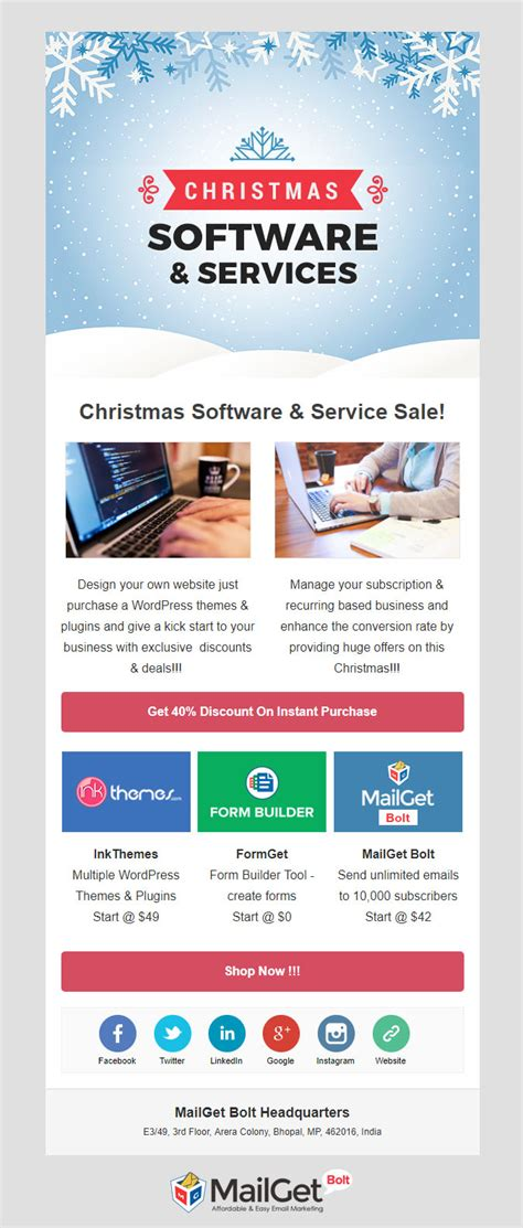 5 Christmas Email Templates Free Customizable Marketing 0 Marketing Email Template Sle