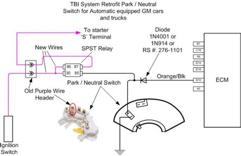 chevy neutral safety switch wiring diagram for 99 starter