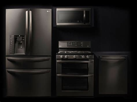 matte black appliances discover the lg black stainless steel series featuring a