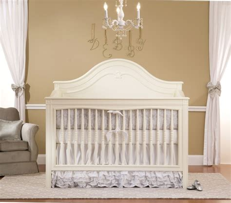Bellini Debby Crib by Debby Crib In Antique White It With Silver Accents
