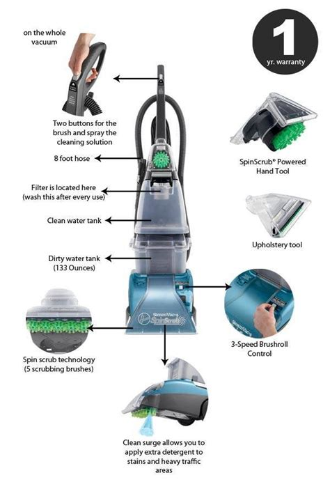 hoover spin scrub upholstery attachment hoover steamvac carpet cleaner f5914900 review