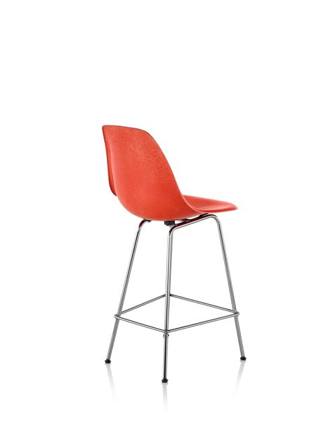 Herman Miller Counter Stools by Eames Molded Fiberglass Stool Counter Height Herman Miller