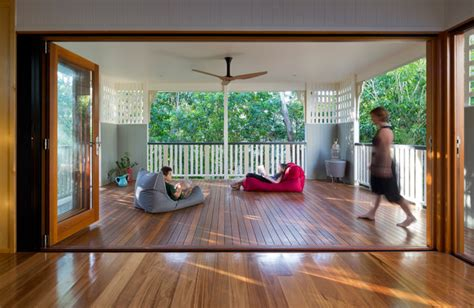 queenslander rooms queenslander fig tree pocket contemporary balcony brisbane by elaine mckendry architect